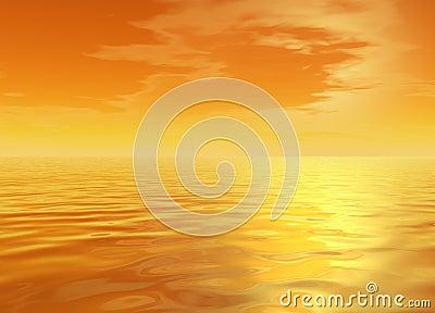 Bright Orange Glowing Skyscape