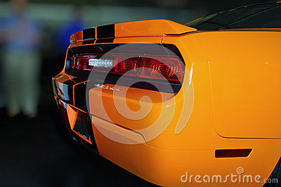 Bright Orange New American Sports Car