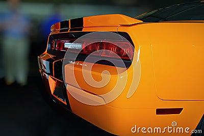 Bright Orange New American Sports Car