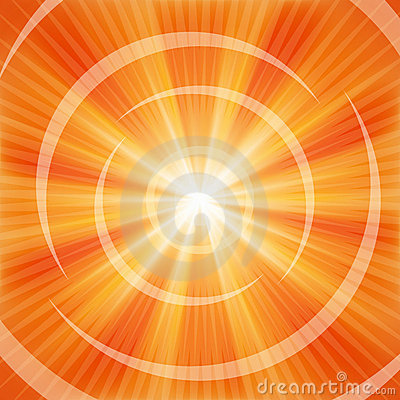 Bright Orange rays