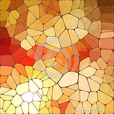 Bright orange shining vector mosaic