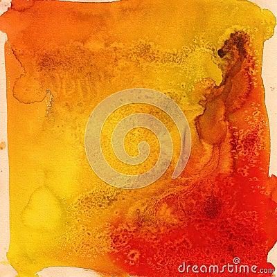 Bright orange streaks watercolor