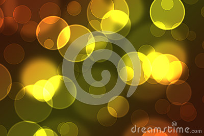 Awesome Digital Bokeh Effect in Orange and Yellow