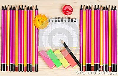 Bright pencils