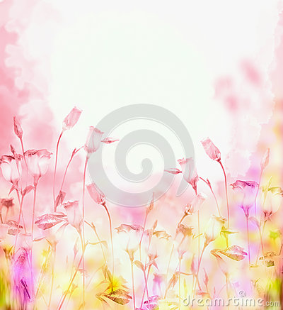 Free Bright Pink Background With Bells Flowers Royalty Free Stock Image - 50061706
