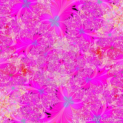 Bright Pink floral abstract background design template
