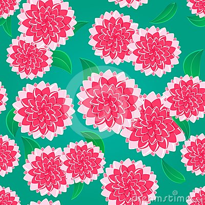 Bright Pink Flower Seamless Pattern