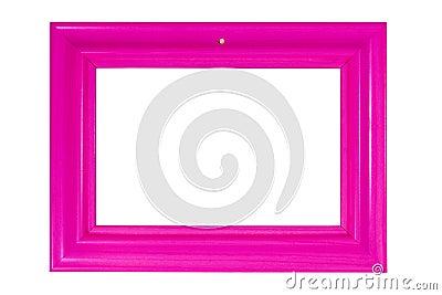 Bright pink photo frame