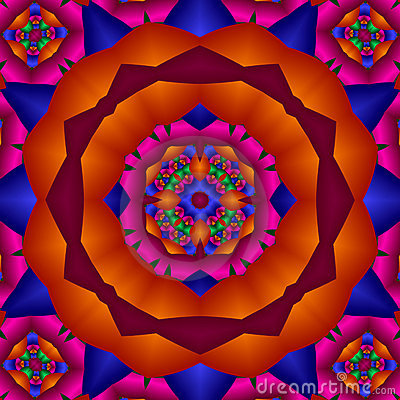 Bright primary colors mandala