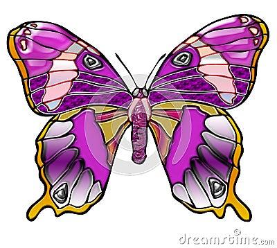 Bright purple butterfly