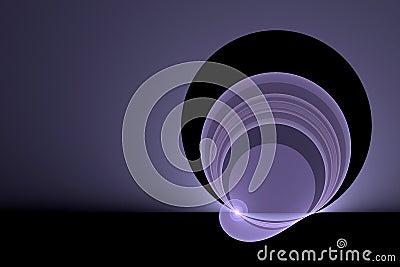 Bright purple swirl