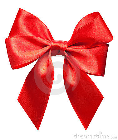 Free Bright Red Bow Isolated Royalty Free Stock Photography - 12019637