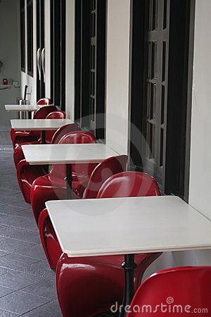 Bright Red Chairs