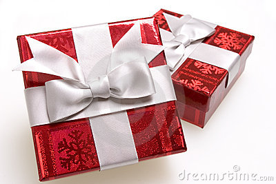 Bright red gifts