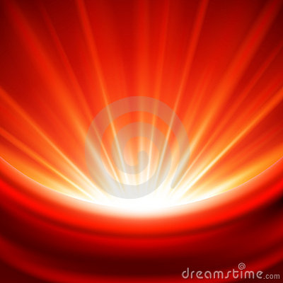 Bright red light background