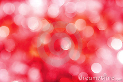 Bright red, pink & white holiday lights background