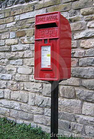 Bright Red Postbox - UK