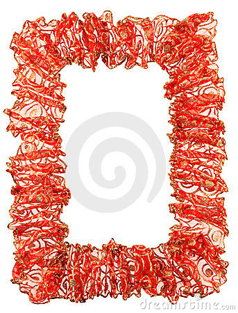 Bright red ribbon isolated