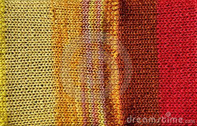 Bright red and yellow crochet stitch background