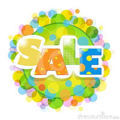 Bright Sale Poster With Bokeh