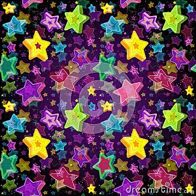 Free Bright Seamless Pattern Christmas Star Stock Photos - 33673273