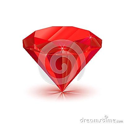 Free Bright Shiny Ruby On White Royalty Free Stock Photography - 68263227