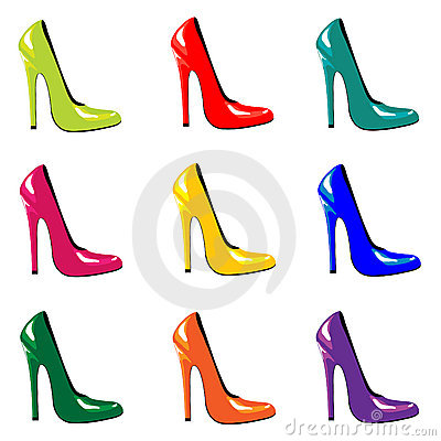 Free Bright Shoes. Royalty Free Stock Photos - 17042188