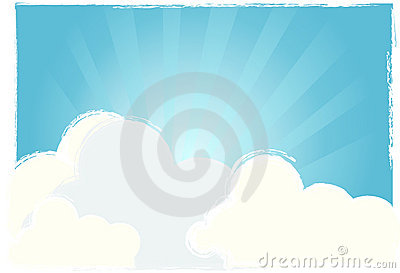Bright sky vector