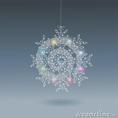 Bright snowflake