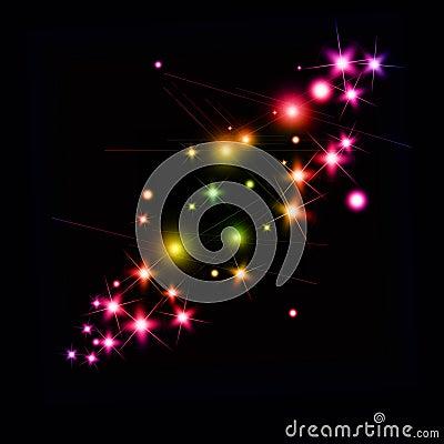 Bright sparkles
