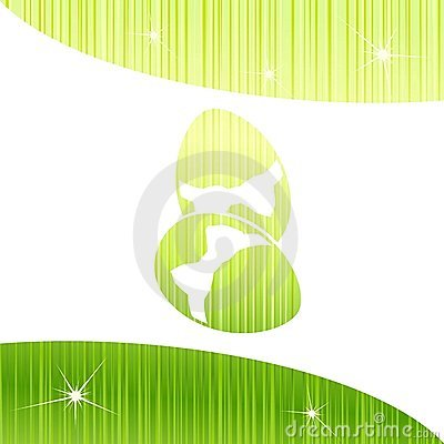Bright sparkly Easter background in green