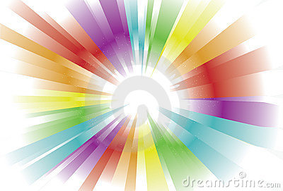 Bright Spectrum Light Background