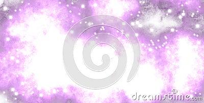 pink haze, space shiny stars Stock Photo