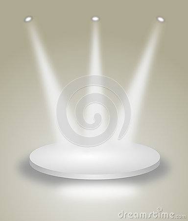 Free Bright Stage With Spot Lights Stock Photos - 24624363