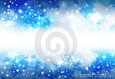 Bright Star Space Background with Sparkles