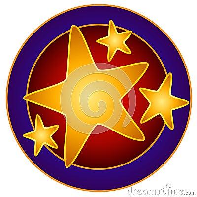 Bright Stars Circle Clip Art