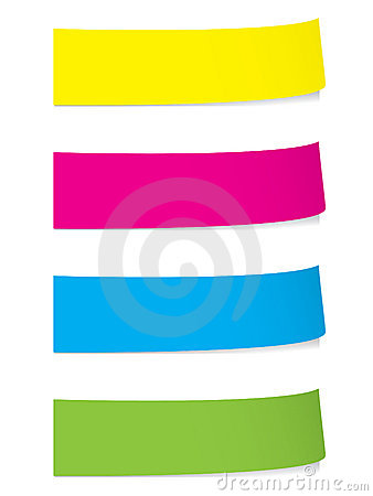 Free Bright Stickies With Shadows Stock Photography - 8660082