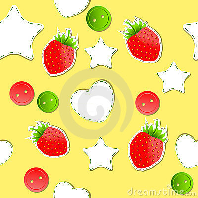 Bright strawberry cute wallpaper seamless