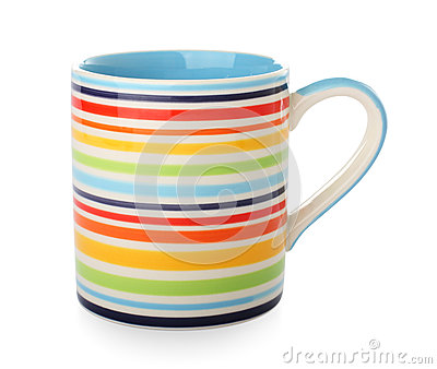 Bright striped mug