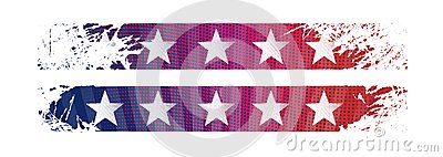 Bright stylized background USA patriotic design
