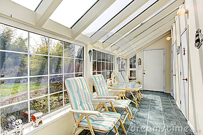 Bright sun room interior