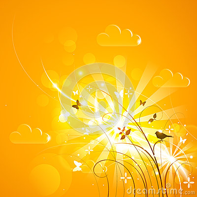 Free Bright Sunny Background Royalty Free Stock Images - 24849889
