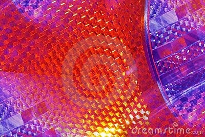 Bright tail light abstract