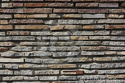 Bright texture from stone masonry