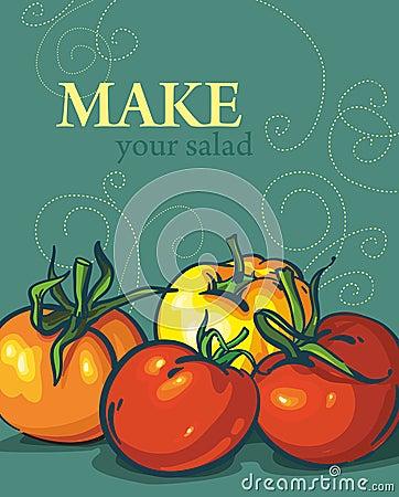 BRIGHT tomatoes. tasty vegetables