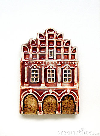 Bright townhouse model refrigerator magnet