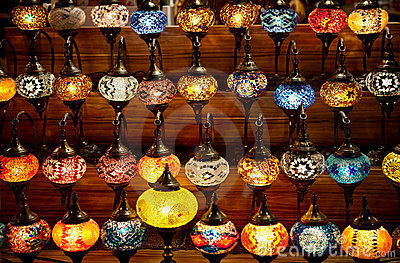 Bright Turkish lanterns