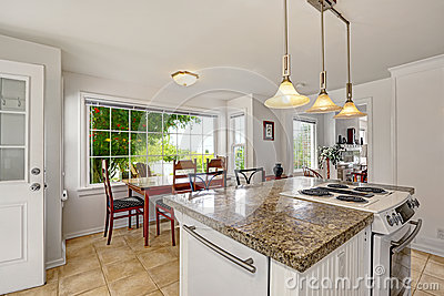 bright white modern kitchen interior with island and large modern family room modern large living room designs