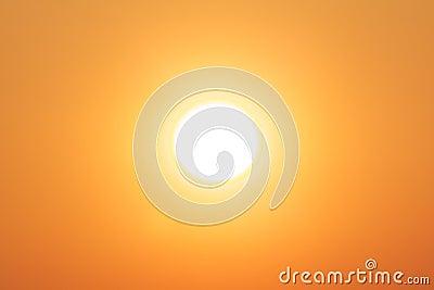 Bright winter sun yellow