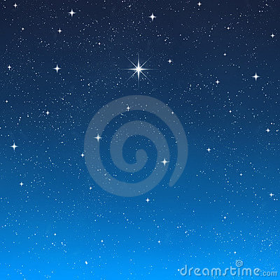 Bright wishing star night sky